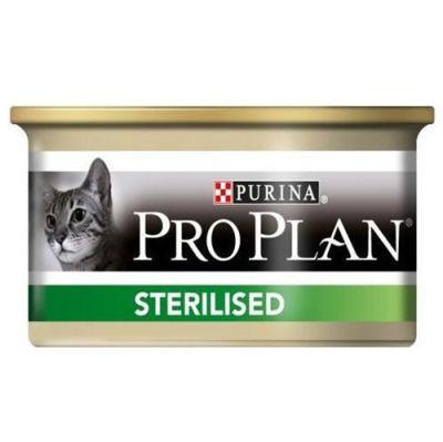Pro Plan Sterilised Ton ve Somonlu Kısırlaştırılmış Kedi Konservesi 85 Gr