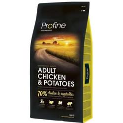 Profine - Profine Adult Chicken Doğal Tavuk Köpek Maması 15 Kg+10 Adet Temizlik Mendili
