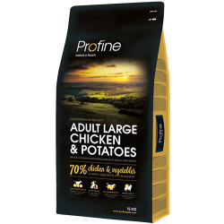 Profine - Profine Adult Large Doğal Tavuk Etli Köpek Maması 15 Kg+10 Adet Temizlik Mendili