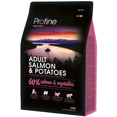 Profine Adult Somon ve Patates Hipo-Alerjenik Köpek Maması 3 Kg
