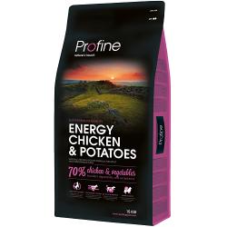 Profine - Profine Energy Doğal Tavuklu Performans Köpek Maması 15 Kg+10 Adet Temizlik Mendili