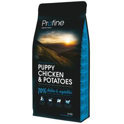Profine - Profine Puppy Doğal Tavuk Yavru Köpek Maması 15 Kg+10 Adet Temizlik Mendili