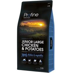 Profine - Profine Junior Large Doğal Tavuk Yavru Köpek Maması 15 Kg+10 Adet Temizlik Mendili