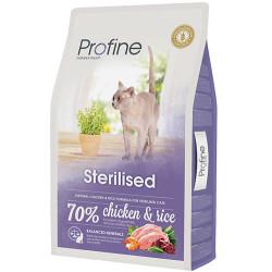 Profine - Profine Sterilised Kısırlaştırılmış Doğal Tavuk Etli Kedi Maması 10 Kg