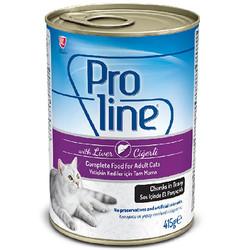 ProLine - Proline Ciğerli Sos İçinde Et Parçalı Kedi Konservesi 415 Gr