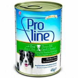 ProLine - Proline Dana Etli ve Ciğerli Köpek Konservesi 415 Gr