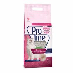 ProLine - Proline Doğal Topaklanan Baby Powder Kokulu Kedi Kumu 5 Lt