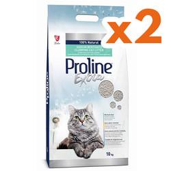 ProLine - Proline Extra Topaklaşan İnce Taneli Kedi Kumu 10 Kg x 2 Adet