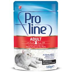 ProLine - Proline Kuzu Etli Jöle İçinde Et Parçacıklı Kedi Yaş Maması 100 Gr