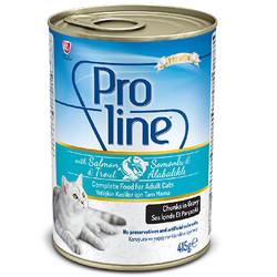 ProLine - Proline Somonlu ve Alabalıklı Sos İçinde Et Parçalı Kedi Konservesi 415 Gr