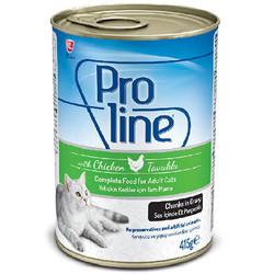 ProLine - Proline Tavuk Etli Sos İçinde Et Parçalı Kedi Konservesi 415 Gr