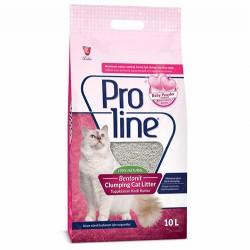ProLine - Proline Doğal Topaklanan Baby Powder Kokulu Kedi Kumu 10 Lt
