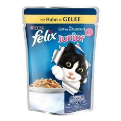 Felix - Felix Junior Pouch Tavuklu Yavru Yaş Kedi Maması 100 Gr