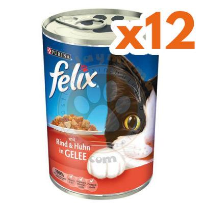 Purina Felix Sığır Etli Kedi Konservesi 400 Gr - (12 Adet x 400 Gr)