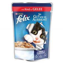 Felix - Felix Pouch Sığır Etli Yaş Kedi Maması 100 Gr
