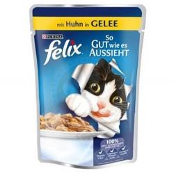 Felix - Felix Pouch Tavuk Etli Yaş Kedi Maması 100 Gr