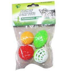 Purrrfect Pet - Purrrfect Pet YT-4178 Karışık Renkli Kedi Oyuncağı (4lü Paket)