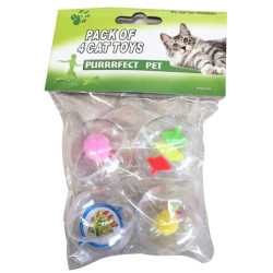 Purrrfect Pet - Purrrfect Pet YT-4192 Karışık Renkli Kedi Oyuncağı (4lü Paket)