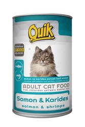 Quik - Quik Adult Somon ve Karidesli Yetişkin Kedi Konservesi 415 Gr