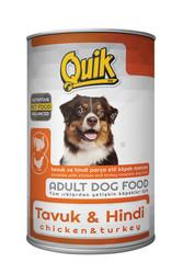 Quik - Quik Adult Tavuk ve Hindi Etli Yetişkin Köpek Konservesi 415 Gr