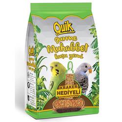 Quik - Quik Gurme Muhabbet Kuşu Yemi 500 Gr (Kraker Hediyeli)