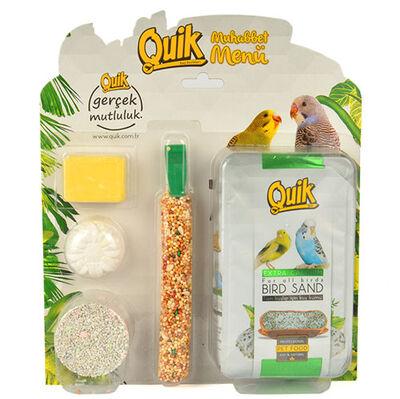 Quik Muhabbet Kuşu Set Menü 5'li Paket (Avantajlı Paket)