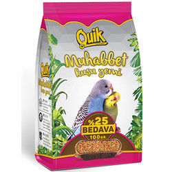 Quik - Quik Muhabbet Kuşu Yemi 400+100 Gr (Toplam 500 Gr)