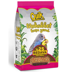 Quik - Quik Muhabbet Kuşu Yemi 750+250 Gr (Toplam 1000 Gr)