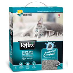 Reflex - Reflex Activated Carbon Koku Kontrolü Gri Kedi Kumu 6 Lt