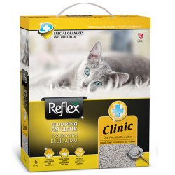 Reflex - Reflex Clinic Koku Kontrolü Doğal Granüllü Kedi Kumu 6 Lt