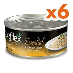 Reflex - Reflex Essential Tavuk Etli ve Mangolu Kedi Konservesi 70 Gr x 6 Adet