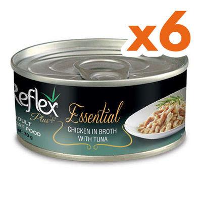 Reflex Essential Tavuk Etli ve Ton Balıklı Kedi Konservesi 70 Gr x 6 Adet