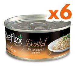 Reflex - Reflex Essential Tavuk Göğüslü Et Suyu Kedi Konservesi 70 Gr x 6 Adet