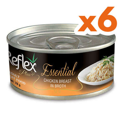Reflex Essential Tavuk Göğüslü Et Suyu Kedi Konservesi 70 Gr x 6 Adet