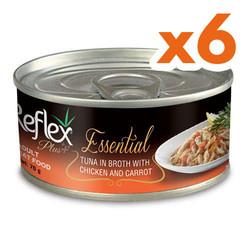 Reflex - Reflex Essential Ton Balığı/Tavuk ve Havuçlu Kedi Konservesi 70 Gr x 6 Adet