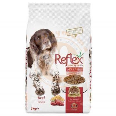 Reflex High Energy Biftekli Köpek Maması 3 Kg+5 Adet Temizlik Mendili