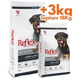 Reflex - Reflex Kuzu Etli Yetişkin Köpek Maması 15 Kg + 3 Kg (Toplam 18 Kg)