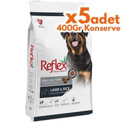 Reflex - Reflex Kuzu Etli Yetişkin Köpek Maması 15 Kg + 5 Adet 400 Gr Yaş Mama