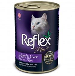 Reflex - Reflex Plus Gravy Biftek ve Ciğerli Kedi Konservesi 400 Gr