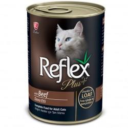Reflex - Reflex Plus Loaf Biftekli Yetişkin Kedi Konservesi 400 Gr