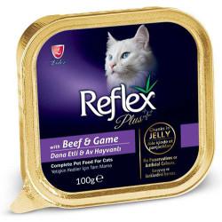 Reflex - Reflex Plus Dana Eti ve Av Hayvanı Jelly Kedi Yaş Maması 100 Gr