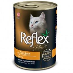 Reflex - Reflex Plus Gravy Tavuklu Parça Etli Soslu Kedi Konservesi 400 Gr