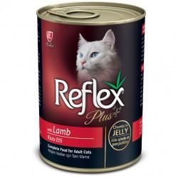 Reflex - Reflex Plus Jelly Kuzu Etli Kümes Hayvanı Parça Etli Jöleli Kedi Konservesi 415 Gr