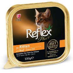 Reflex - Reflex Plus Kitten Biftek Etli Jöleli Yavru Kedi Yaş Maması 100 Gr