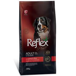 Reflex - Reflex Plus Kuzu Etli Maxi Büyük Irk Köpek Maması 18 Kg + 10 Adet Temizlik Mendili