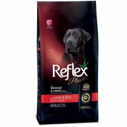 Reflex - Reflex Plus Kuzulu Orta ve Büyük Irk Köpek Maması 3 Kg + 5 Adet Temizlik Mendili