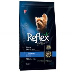 Reflex - Reflex Plus Mini & Small Somonlu Küçük Irk Köpek Maması 3 Kg + 5 Adet Temizlik Mendili