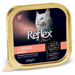 Reflex - Reflex Plus Somonlu Jelly Kedi Yaş Maması 100 Gr