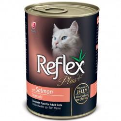 Reflex - Reflex Plus Jelly Somonlu Jöleli Parça Etli Kedi Konservesi 400 Gr