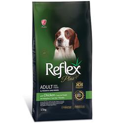 Reflex - Reflex Plus Tavuk Etli Orta / Büyük Irk Köpek Maması 15 Kg + 10 Adet Temizlik Mendili